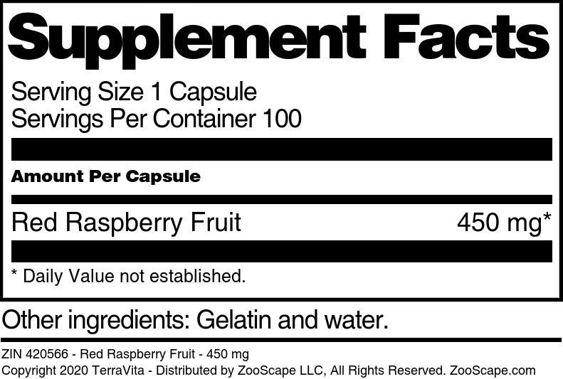 Red Raspberry Fruit - 450 mg