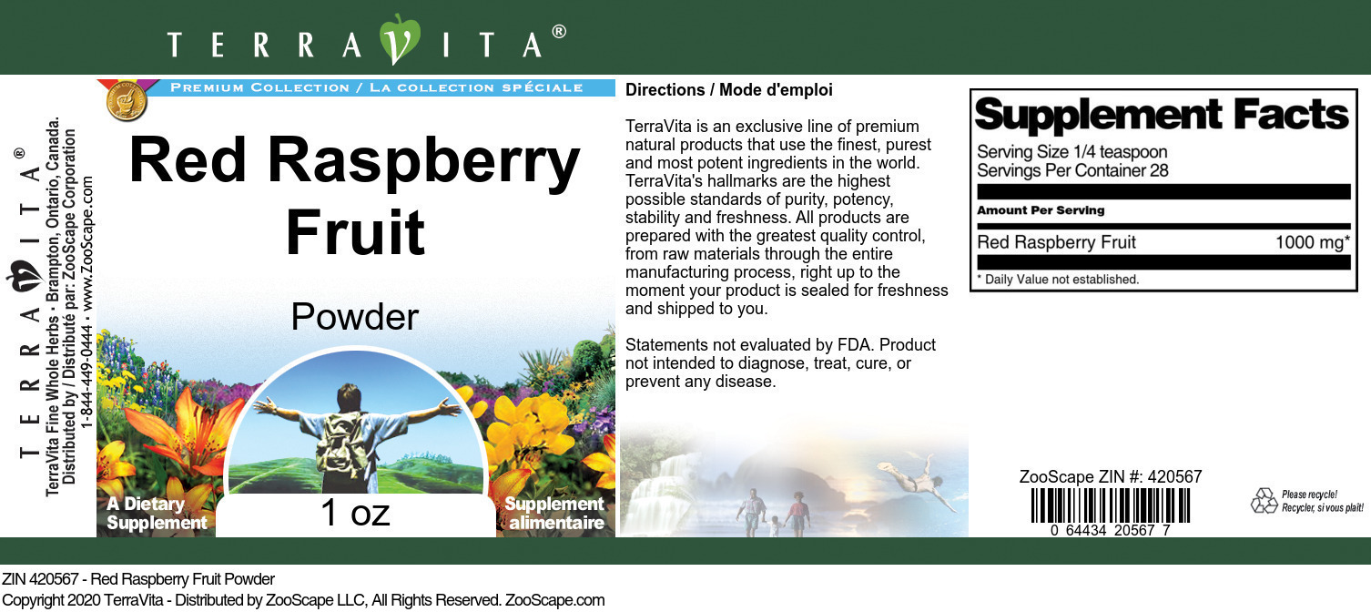 Red Raspberry Fruit Powder