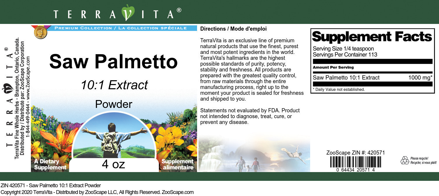 Saw Palmetto 10:1 Extract