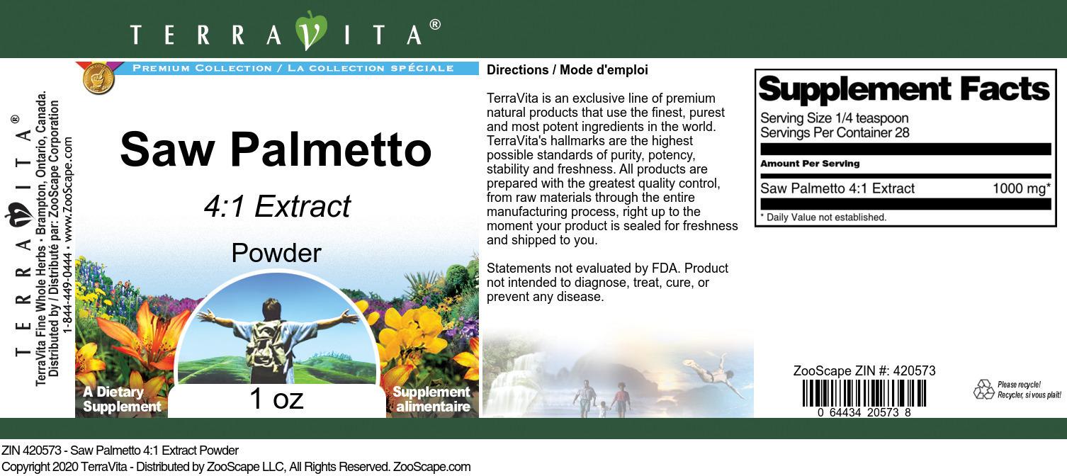 Saw Palmetto 4:1 Extract Powder