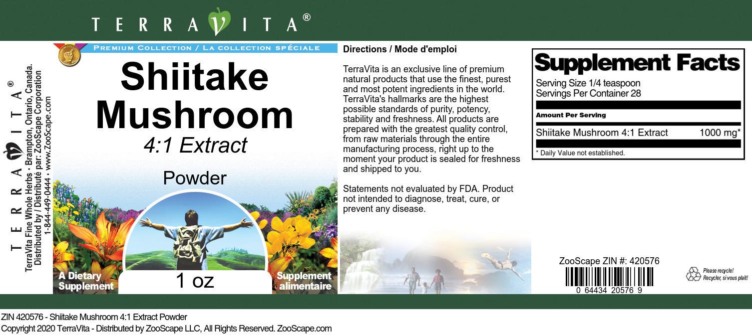Shiitake Mushroom 4:1 Extract
