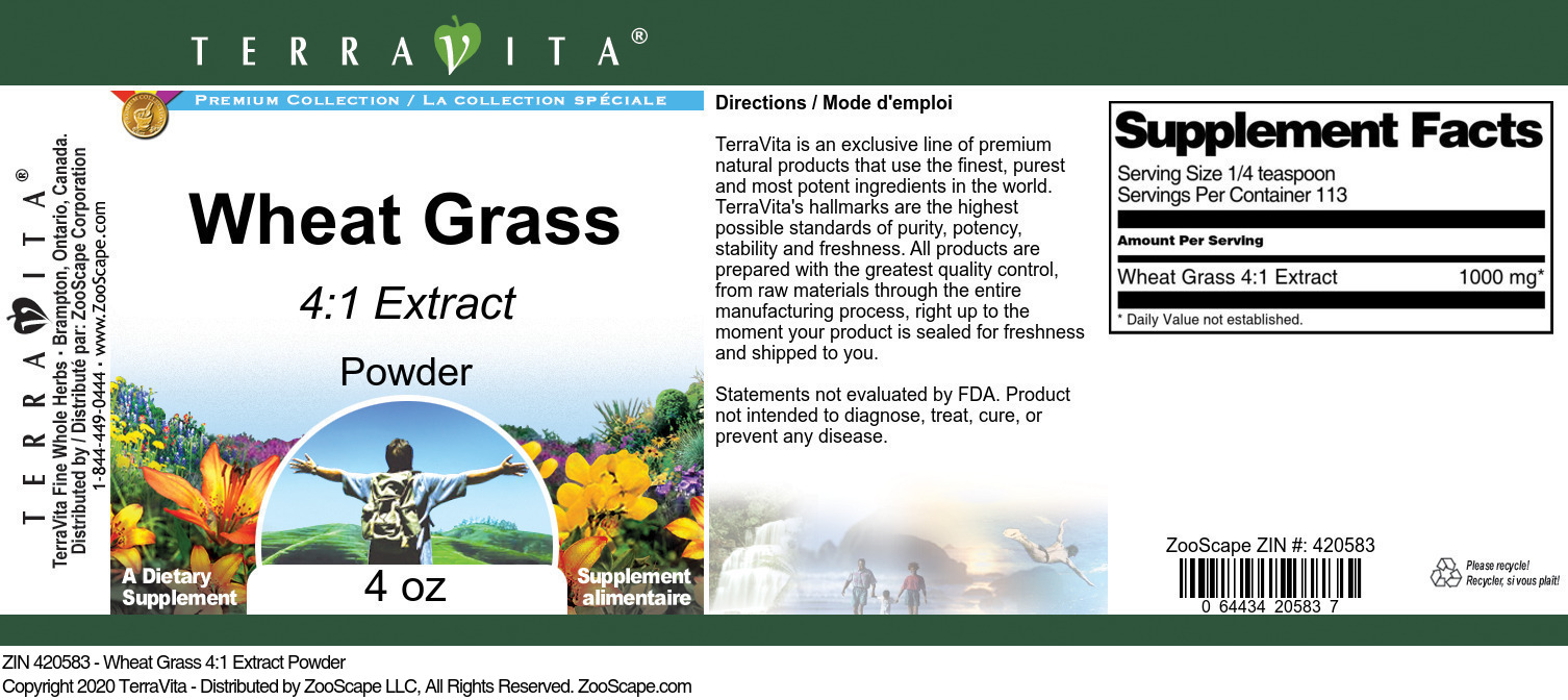 Wheat Grass 4:1 Extract