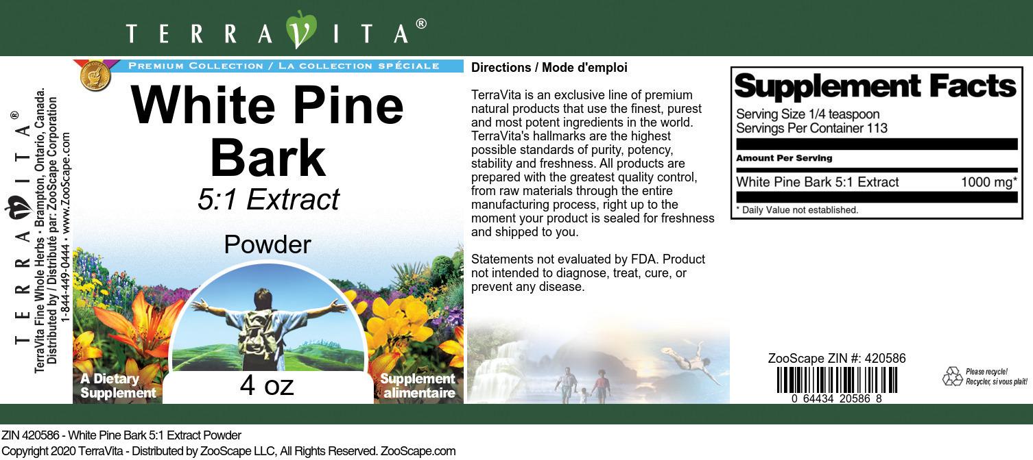 White Pine Bark 5:1 Extract Powder