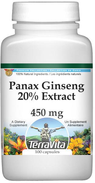 Panax Ginseng 20% Extract - 450 mg