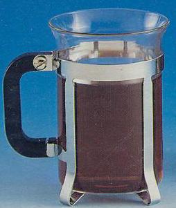 French Press Mug - Royal Ceylon Tea Cup - Chrome Stainless Steel - Additional View