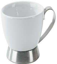 Bianca Porcelain and Metal Cappuccino Cup