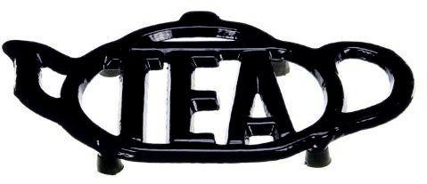 Cast Iron Tea Cup Trivet - Black