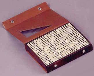 Double Twelve Dominoes with Vinyl Case