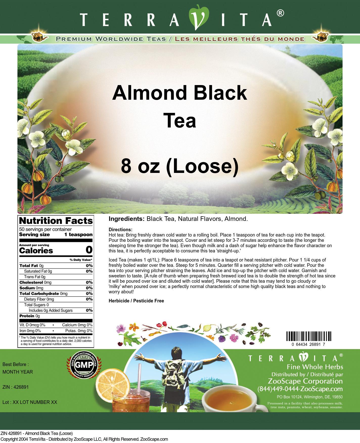 Almond Tea (Loose) - Label