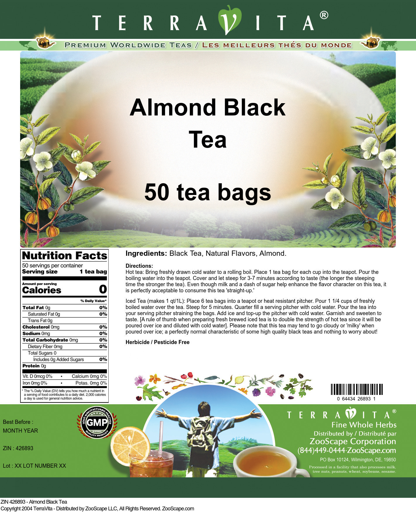 Almond Tea - Label