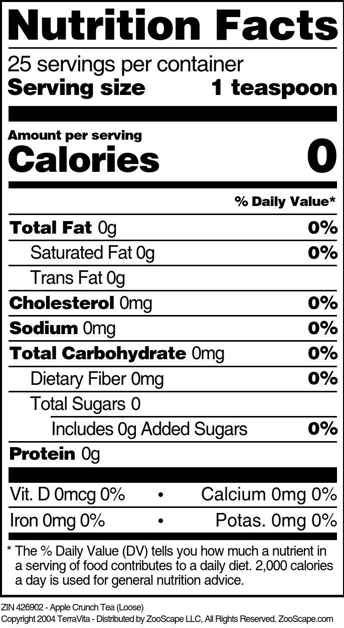 Apple Crunch Tea (Loose) - Label