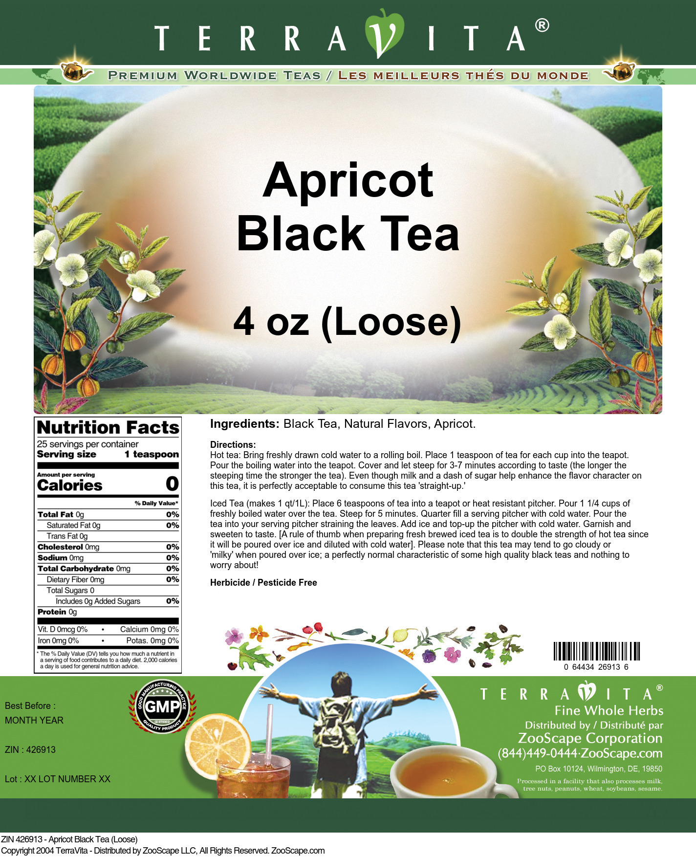 Apricot Tea (Loose) - Label