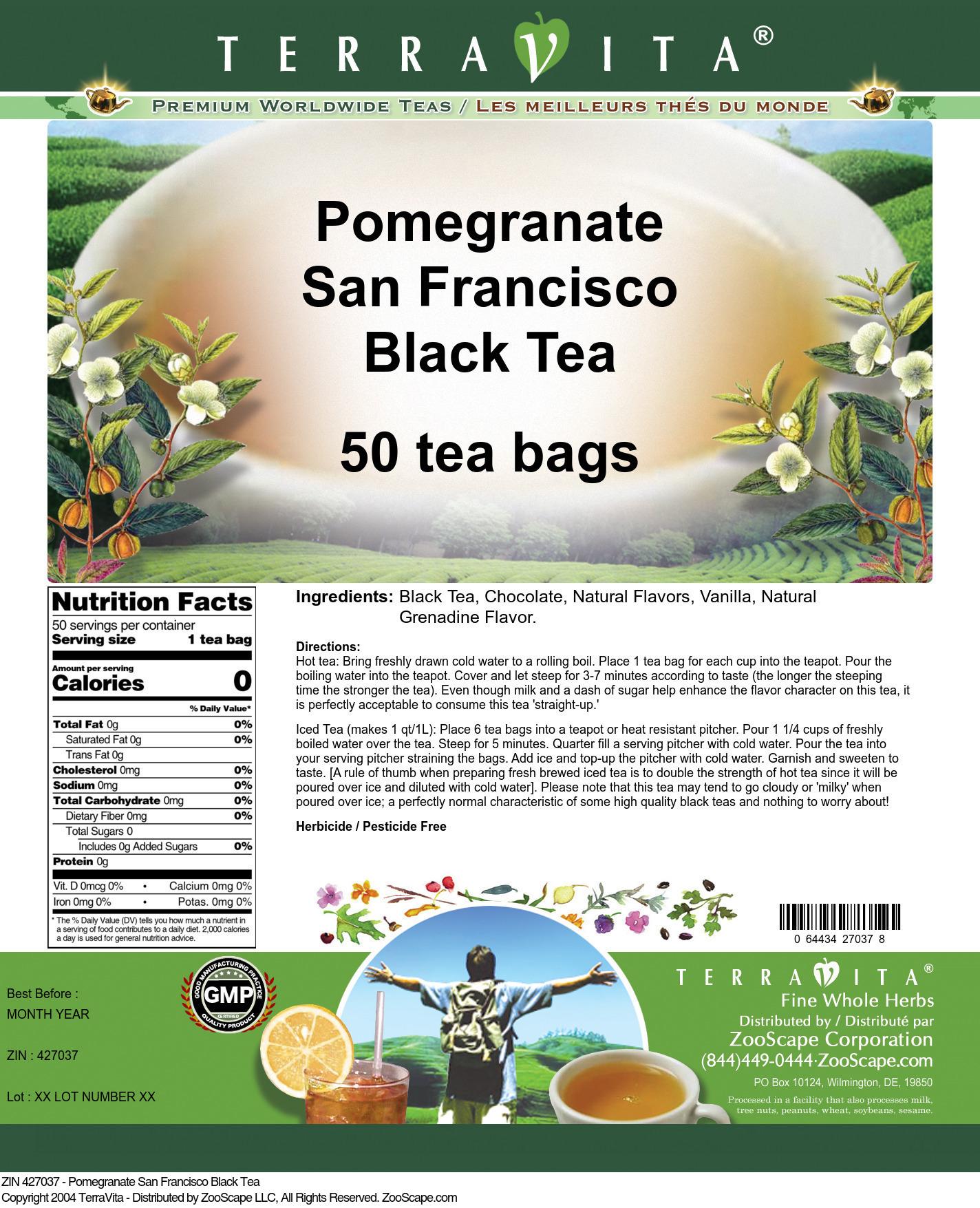 Pomegranate San Francisco Black Tea