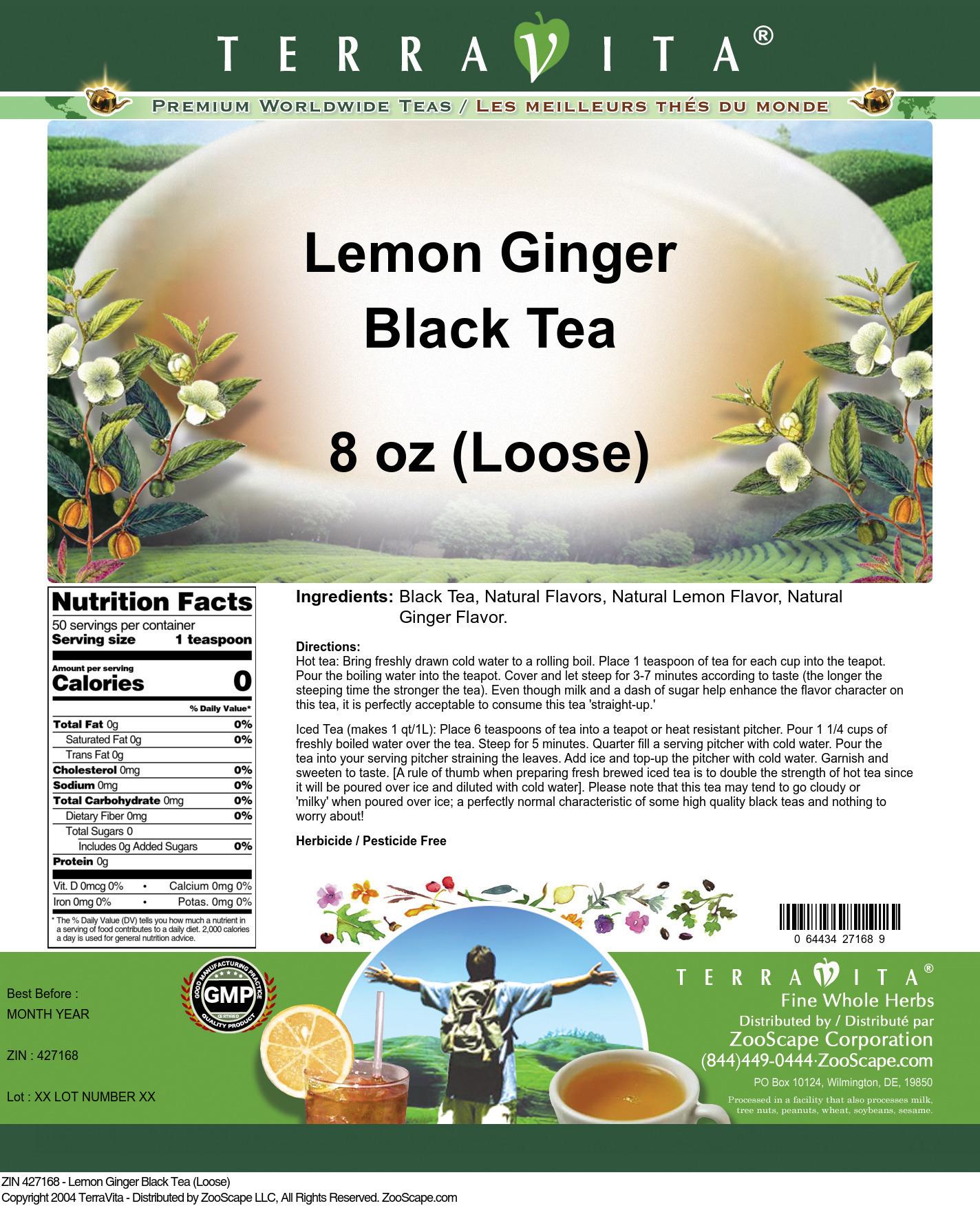 Lemon Ginger Black Tea (Loose)