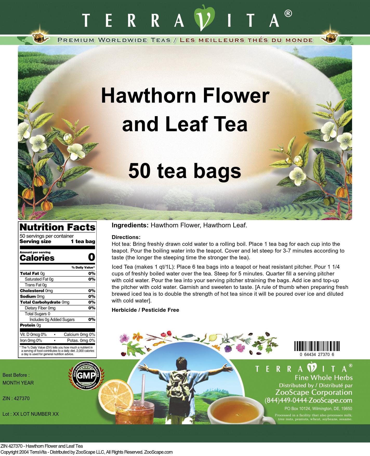 Hawthorn Flower and Leaf