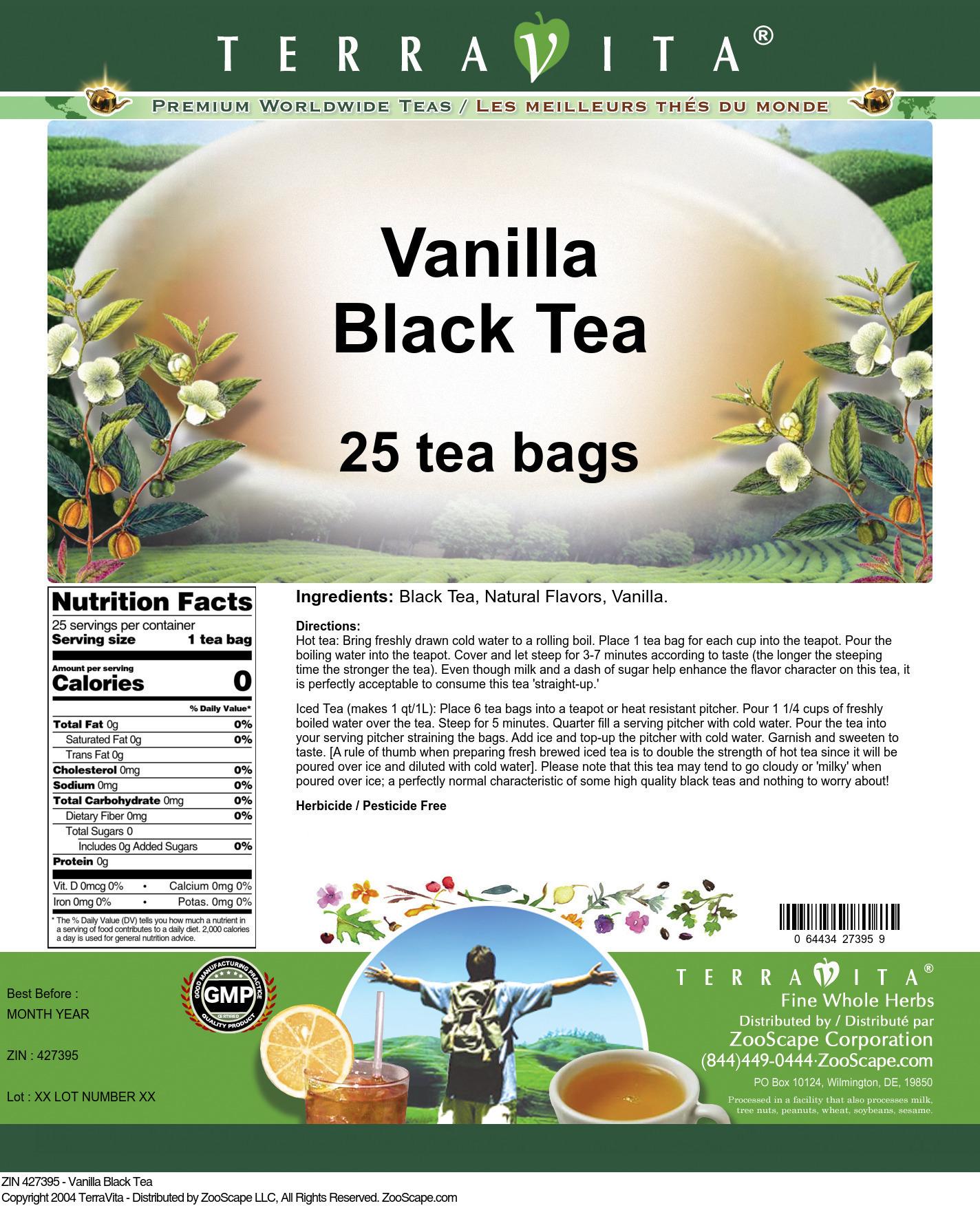 Vanilla Black Tea