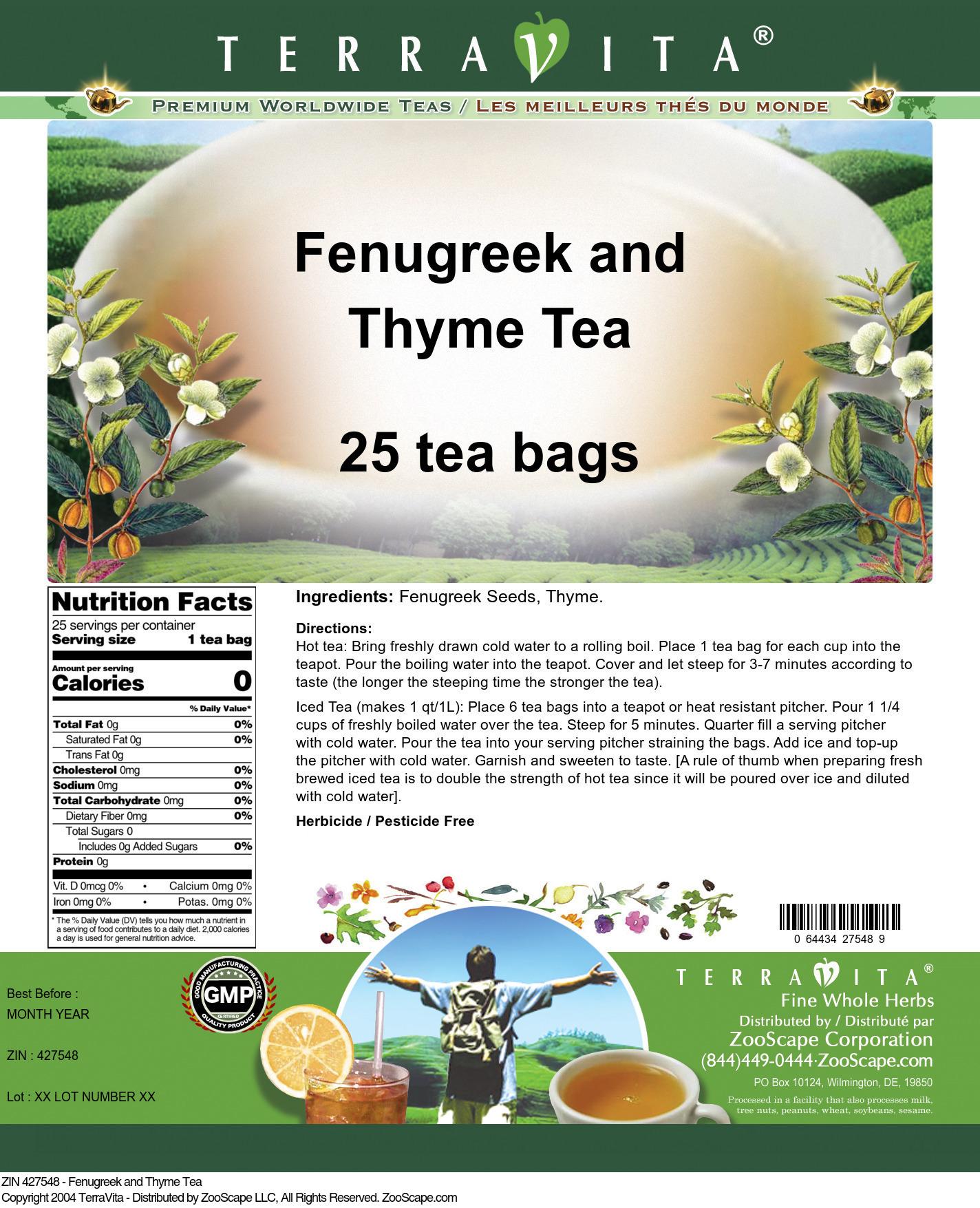 Fenugreek and Thyme Tea
