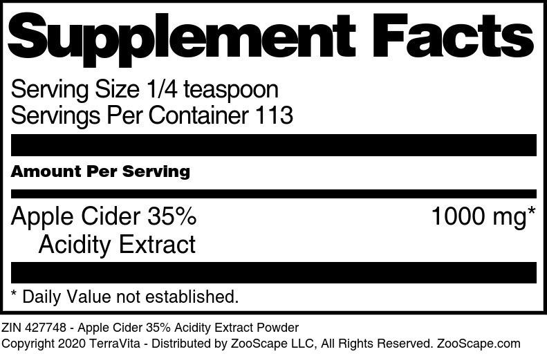 Apple Cider 35% Acidity Extract Powder