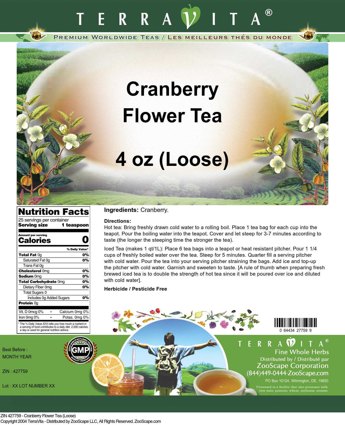 Cranberry Flower Tea (Loose)