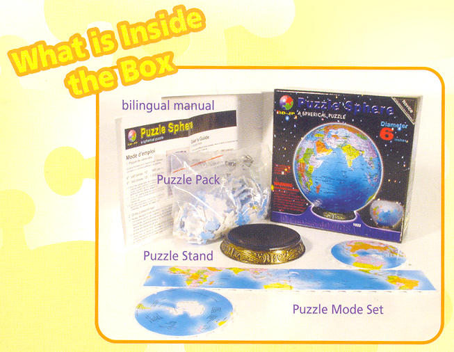 Puzzle Sphere - 3D Blue Marble Earth - Additional View