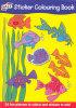 Sticker Colouring Book - 24 Fun Pictures!