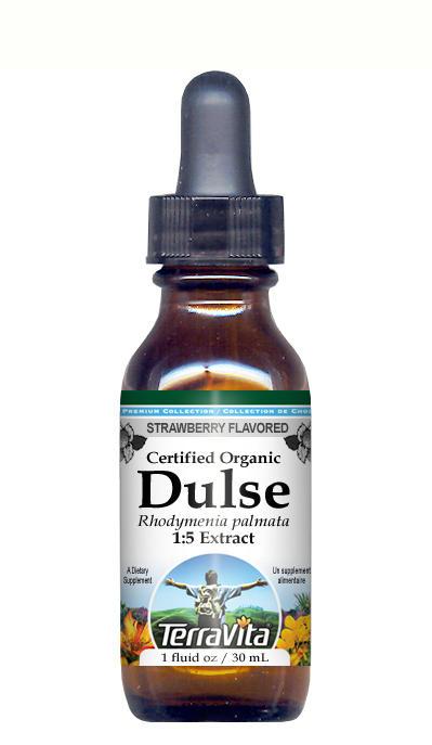Organic Dulse Seaweed - Glycerite Liquid Extract (1:5) - Strawberry Flavored