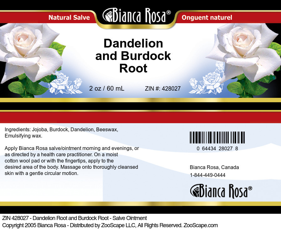 Dandelion Root and Burdock Root - Salve Ointment