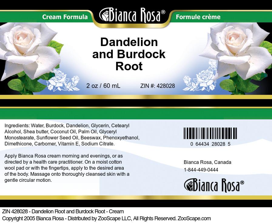Dandelion Root and Burdock Root - Cream