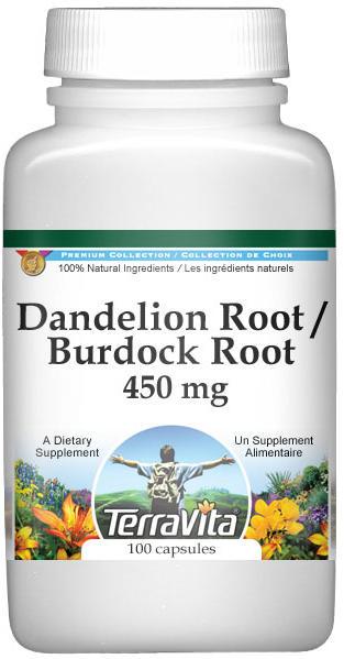 Dandelion Root and Burdock Root - 450 mg