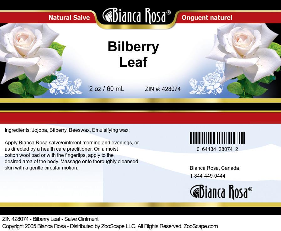 Bilberry Leaf - Salve Ointment