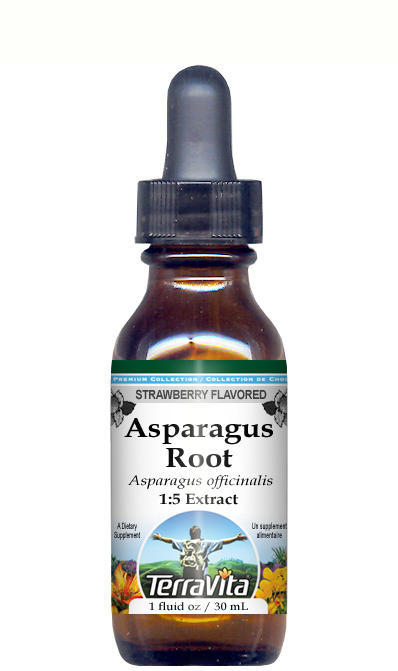 Asparagus Root - Glycerite Liquid Extract (1:5) - Strawberry Flavored