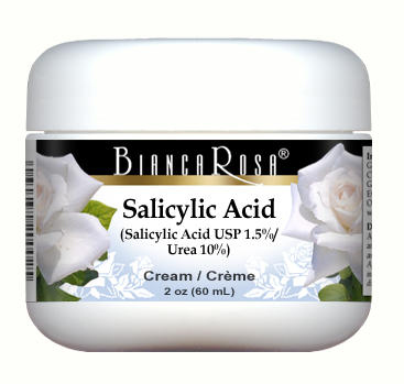 Salicylic Acid USP (Beta Hydroxy Acid BHA) (1.5%), Urea (10%) - Cream Blend
