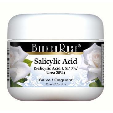 Salicylic Acid USP (Beta Hydroxy Acid BHA) (3%), Urea (20%) - Salve Ointment Blend - Label