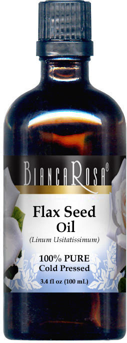 Flax Seed Oil - 100% Pure, Cold Pressed