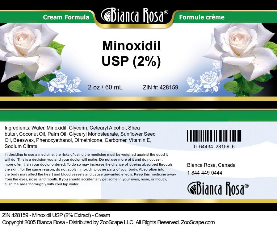 Minoxidil USP (2%) - Cream