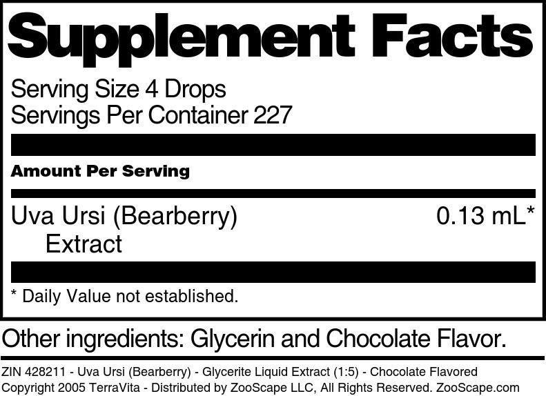 Uva Ursi (Bearberry) - Glycerite Liquid Extract (1:5)