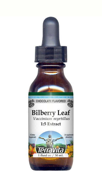 Bilberry Leaf - Glycerite Liquid Extract (1:5) - Chocolate Flavored