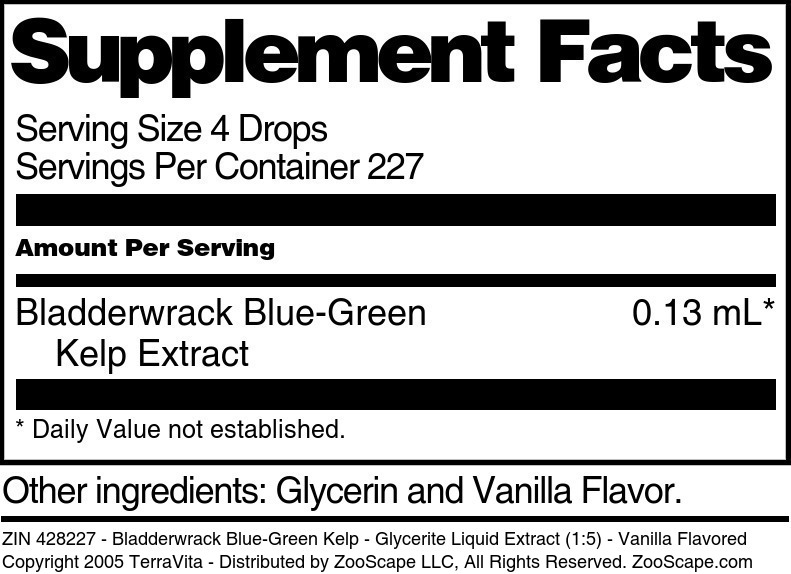 Bladderwrack Blue-Green Kelp