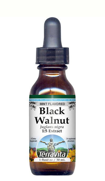 Black Walnut Leaf - Glycerite Liquid Extract (1:5) - Mint Flavored