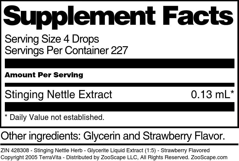 Stinging Nettle Herb - Glycerite Liquid Extract (1:5)