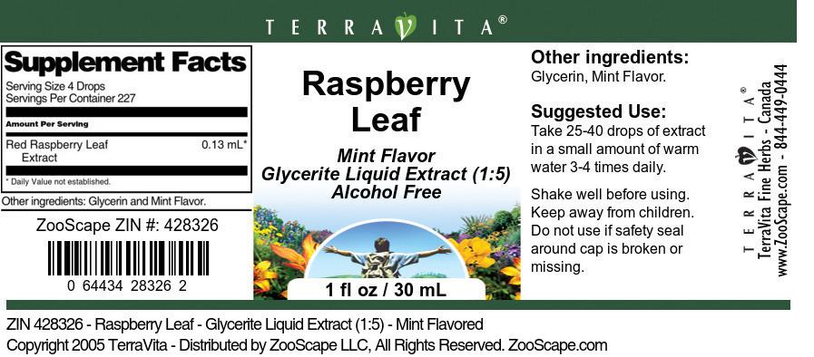 Raspberry Leaf - Glycerite Liquid Extract (1:5)