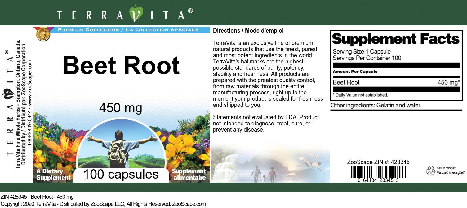 Beet Root - 450 mg