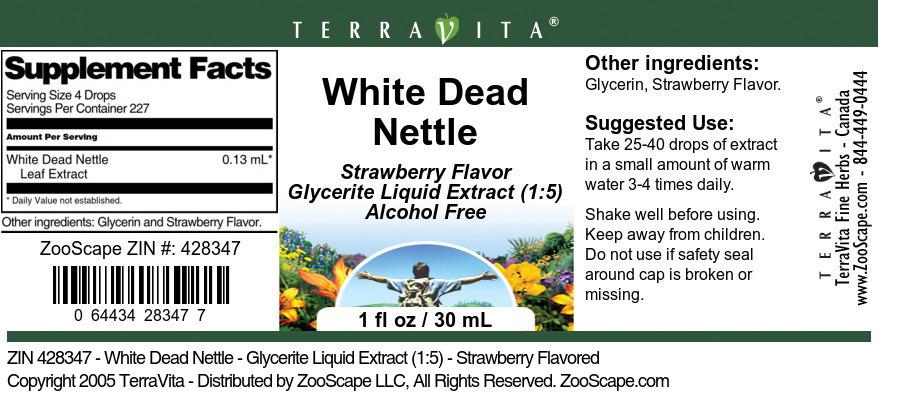 White Dead Nettle - Glycerite Liquid Extract (1:5)