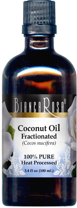 Coconut Oil (Fractionated) - 100% Pure, Cold Pressed