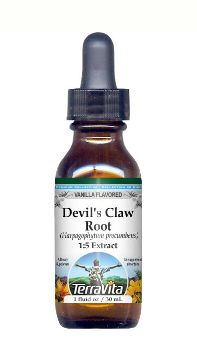 Devil's Claw Root - Glycerite Liquid Extract (1:5) - Vanilla Flavored