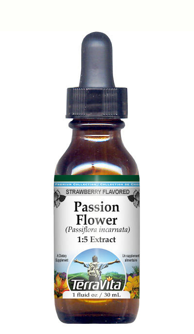 Passion Flower (Passiflora) - Glycerite Liquid Extract (1:5) - Strawberry Flavored