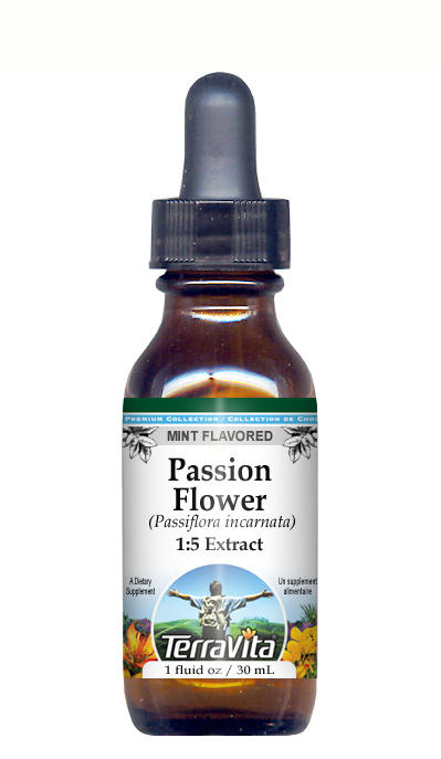 Passion Flower (Passiflora) - Glycerite Liquid Extract (1:5) - Mint Flavored