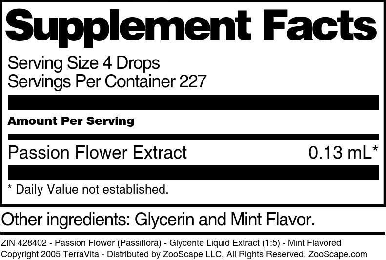 Passion Flower (Passiflora) - Glycerite Liquid Extract (1:5)
