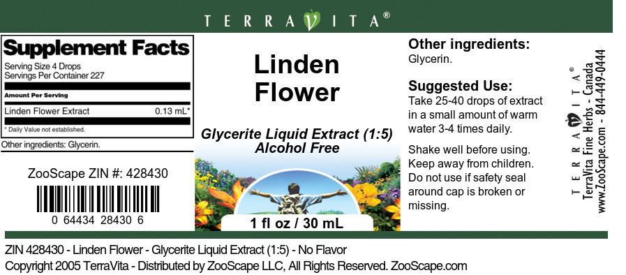Linden Flower - Glycerite Liquid Extract (1:5)