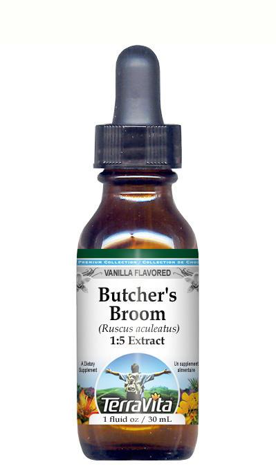 Butcher's Broom Root - Glycerite Liquid Extract (1:5) - Vanilla Flavored